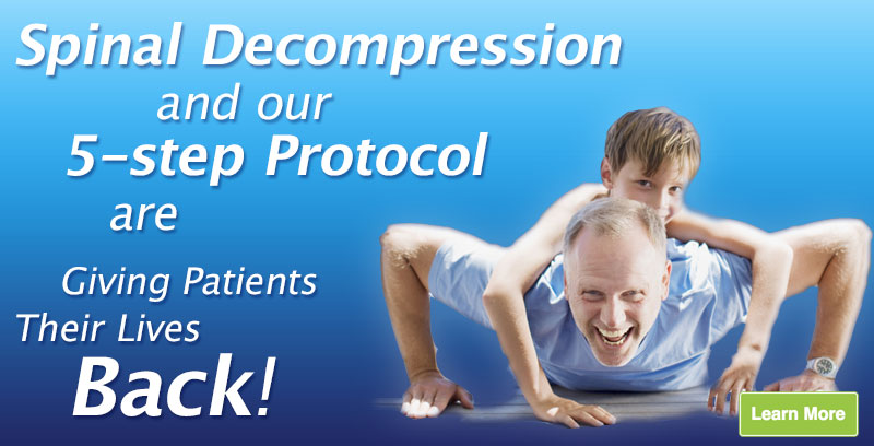 Spinal Decompression and our 5 step protocol are Giving Patients Their Lives Back